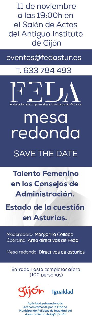 save the date jornada feda 11-11-19